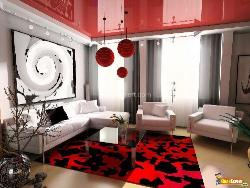 Living room ceiling design, furniture placement, carpet, ceiling lights
