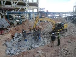 80 ton Tower crane foundation demolition work,Tuticorin-9841125344