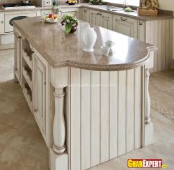 Brown colored Granite for Kitchen Island