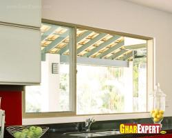 big size sliding window for kitchen