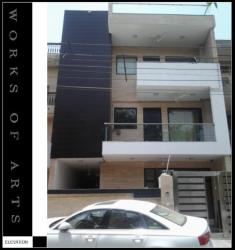 EXTERNAL FACADE FOR  RESIDENCE AT BN BLOCK ,SHALIMAR BAGH,DELHI FOR MR.JAIN