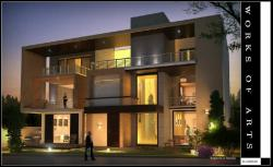 RESIDENCE FOR MR.LOHIA AT NOIDA-FRONT FACADE