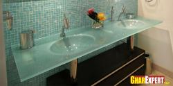 Bathroom accessories and modern design wash basin