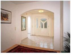Entrance door in white color