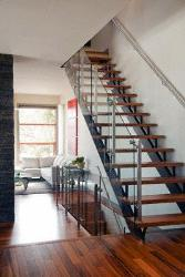 Wooden flooring on stairs and flooring