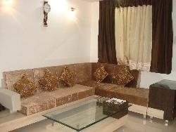L shape sofa seating in Drawing room