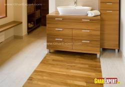 Dual tone bathroom flooring