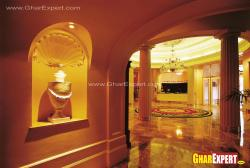 Marble flooring design for royal foyer
