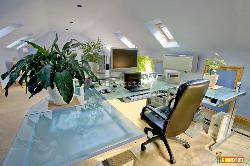 A home Office in a Converted Loft
