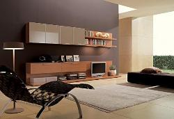 Living Room LCD unit, Furniture, wooden  Flooring, Carpet, Floor Lamp