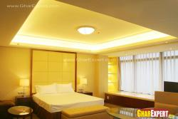 simple and minimlaitic cove ceiling for master  bedroom