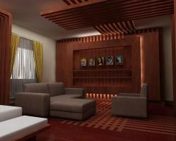 Wooden ceiling design for drawing room