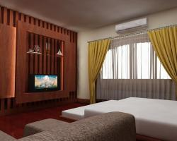 LCD wall unit for bedroom