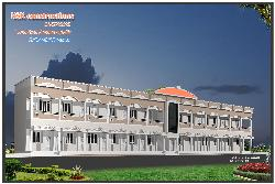 Elevation of school building