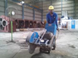 industrial concrete floor cutting work