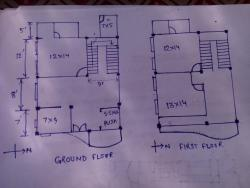 Floorplan  of ground floor & first floor