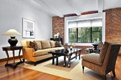 Living Room with Brick Wall Texture