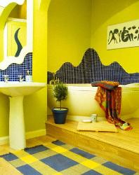 Exotic Yellow Texture in Bathroom