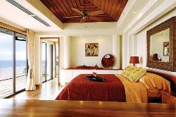 Wooden Ceiling design for Bedroom and floor to wall windows for lighting and ventilation