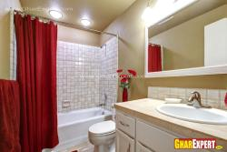 modern spacious bathroom for 5 by 12 ft