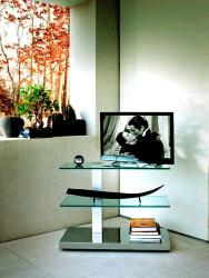 stand for lcd in glass modern design