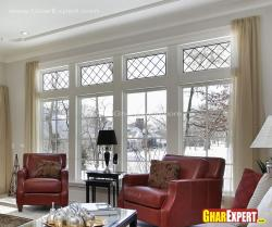 Large sized windows with different grills design