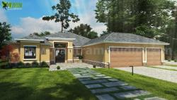 Small House Design Ideas Front Exterior Rendering by Yantram architectural rendering service Los Angeles