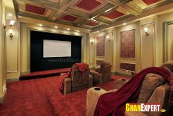 Home theater with multiple row sittings