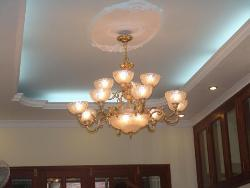 Ceiling Design with Chandelier