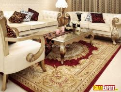 Drawing room furniture and carpet design