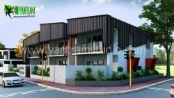 Example of 3D Architectural Modern and Residential House
