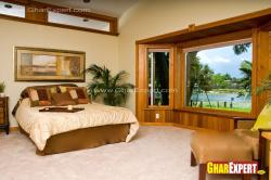 Big bay window design fror bedroom