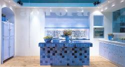 Mosaic tiles on Kitchen island