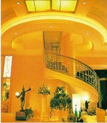 Ceiling and stairs design in Foyer