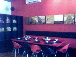 Cafe seating or restaurant seating