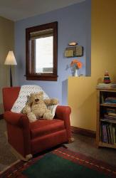 kids room paint ideas with two color theme
