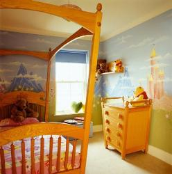 Attractive scenery design as kids room paint ideas