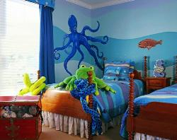 Under water world kids room paint ideas