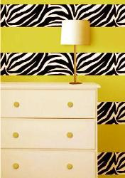 zebra pattern on wall in horizontal stripes
