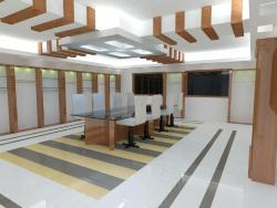 Conference room Interior design including Flooring and Ceiling design
