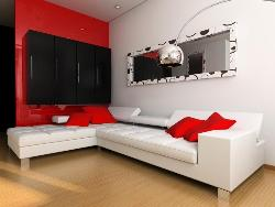living room sectional, wall decor, wall unit, wall mirror