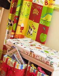 Alphabetic Curtains For Kids Room