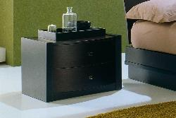 Bed side unit in wood