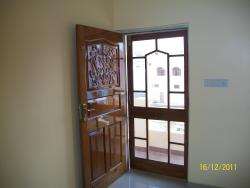Teak wood Panel Door with Mesh Door.
