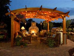 Pergola Lighting & Decoration