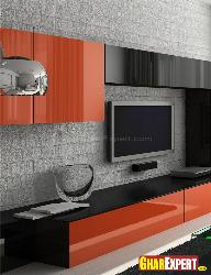 LCD Unit Design with Cabinets Design