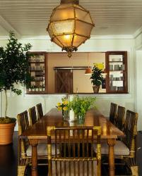 dining room furniture made with wood and rattan