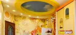 colorful innovative  ceiling design for kids room