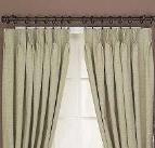 Pinch pleat style curtains