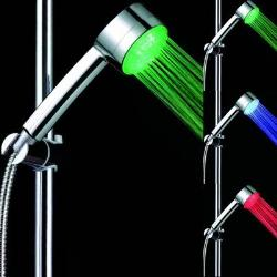 Temperature Controlled Color Changing LED Hand Showerhead